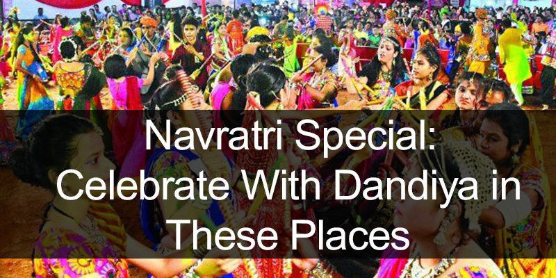 Dandiya celebration during navratri