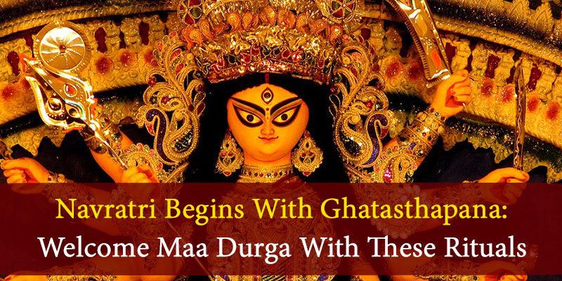 Welcome Maa Durga With Ghatasthapana On First Day Of Sharad Navratri!